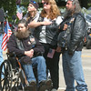 WARREN DILLAWAY / Star Beacon<br /> MEMBERS OF GUARDIANS USA VETS and American Legion Riders participated in the Ashtabula Memorial Day service.