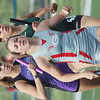 WARREN DILLAWAY / Star Beacon<br /> EMILY DEERING anchors the Geneva 4 x 800 meter relay on Wednesday helping  to a third place finish at the Division I Regional Track Meet at Austintown Fitch earning a trip to the state championship meet next week in Columbus.