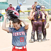 WARREN DILLAWAY / Star Beacon<br /> BECKY DEPP of Geneva was still able to smile after striking out to end the game on Thursday during a Division II regional semi-final game at Firestone Park in Akron.