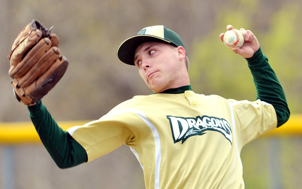 WARREN DILLAWAY / Star Beacon<br /> RICHARD TUTTLE of Lakeside pitches on Monday during a home game with Geneva.