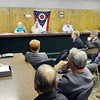 WARREN DILLAWAY / Star Beacon<br /> A LARGE group of people attended a meeting concerning Route 20 bridge project on Monday at the North Kingsville Village Hall. Several officials from the Ohio Department of Transportation answered questions from the public and elected offials during the meeting.