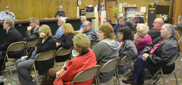 WARREN DILLAWAY / Star Beacon<br /> A LARGE group of people attended a meeting concerning Route 20 bridge project on Monday at the North Kingsville Village Hall.
