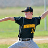 WARREN DILLAWAY / Star Beacon<br /> DYLAN MAWHORR of Riverside pitches on Thursday during a game at Geneva.