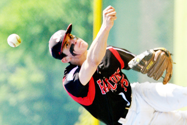 WARREN DILLAWAY / Star Beacon<br /> COLE ERDEL pitches for Jefferson on Monday during a Division II district semifinal game against Chagrin Falls at Havens Complex in Jefferson Township.