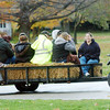 WARREN DILLAWAY / Star Beacon<br /> HAY RIDES were a big part of the North Kingsville trick or treat experience Saturday at the village administration center.