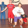 WARREN DILLAWAY / Star Beacon<br /> PYMATUNING VALLEY wrestlers (from left) Tyler Conoby, Cody Ellis and Austin O'Baker drill Tuesday during practice.