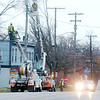 WARREN DILLAWAY / Star Beacon<br /> HESKEL AND McCoy crews work on utility lines along Main Avenue in Ashtabula Tuesday afternoon.