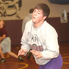 WARREN DILLAWAY / Star Beacon<br /> CODY ELLIS warms up during Pymatuning Valley wrestling practice Tuesday in Andover Township.