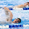 WARREN DILLAWAY / Star Beacon<br /> BRADY BUNNELL of Lakeside works on his freestyle stroke during swim practice on Thursday night at Spire Institute.