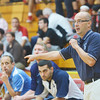 WARREN DILLAWAY / Star Beacon<br /> NICK IAROCCI, St. Johns girls basktball coach, instructs a play during the Edgewood Preview on Friday evening in Ashtabula Township.