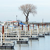 WARREN DILLAWAY / Star Beacon<br /> ONLY TWO boats remain on the east side of Conneaut Harbor as winter approaches.