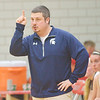 WARREN DILLAWAY / Star Beacon<br /> TONY PASANEN, Conneaut girls basketball coach, gestures to his team on Friday night during the Edgewood Preview.
