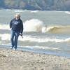 WARREN DILLAWAY / Star Beacon<br /> WAVES POUND Walnut Beach in Ashtabula  on Friday morning.