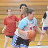 WARREN DILLAWAY / Star Beacon<br /> COURTNEY HUMPHREY drives to the basket during an Edgewood girls basketball practice on Friday.