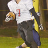 WARREN DILLAWAY / Star Beacon<br /> CODY CAMPBELL of Jefferson scores a touchdown on Friday night at Conneaut.