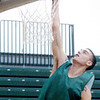 WARREN DILLAWAY / Star Beacon<br /> COLE FARR of Lakeside goes up for dunk during a drill at a Lakeside basketball practice Tuesday afternoon.