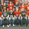 WARREN DILLAWAY / Star Beacon<br /> THE ASHTABULA COUNTY second team offense includes (from left seated) Brandon Pakkala of Geneva, Manny Lucas of Lakeside, Troy Colucci of Conneaut, Brett Powers of Jefferson, Chase Knight of Lakeside and Austin Clutter of Geneva. (From left second row) Garrett Vaught of Lakeside, Joey Smith of Pymatuning Valley,  Blake Perry of Jefferson, Ray Marsch of Grand Valley, Anthony Colby of Edgewood and Santos Robles of Geneva. (Not pictured include Chuck Morgan of Lakeside, Jimmy Lamar of Grand Valley and Brandon Balascio of Jefferson)