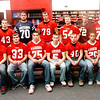WARREN DILLAWAY / Star Beacon<br /> THE STAR Beacon Ashtabula County First Team Offense (includes from left seated) Tony Chiacchiero of Jefferson, Aaron Rossi of Geneva, Matt Fitchet of Edgewood, Lou Wisnyai of Edgewood, Scott Davidson of Jefferson, Dylan McCaleb of Edgewood and Tim Cross of Pymatuning Valley. (From left standing) Nick Meola of Lakeside, Jacob Hamilton of Jefferson, Alex Oscar of Grand Valley, Justin Ales of Geneva, Tyler Gancos of Jefferson, Austin O'Baker of Pymatuning Valley, Jarrod Harrah of Edgewood and Austin Nowakowski of Pymatuning Valley.