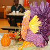 WARREN DILLAWAY / Star Beacon<br /> A COLORFUL turkey greeted Thanksgiving Dinner guests at G.O. Ministries in Ashtabula Thursday.
