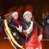 WARREN DILLAWAY / Star Beacon<br /> KOURTNEY CLARK of Vicki's Sparkling Twirlers perform on Friday evening during the Ashtabula Christmas Parade.