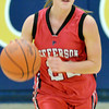 WARREN DILLAWAY / Star Beacon<br /> DEANNA COMP of Jefferson dribbles up the court on Saturday during a game at Conneaut.