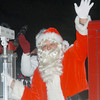 WARREN DILLAWAY / Star Beacon<br /> SANTA ARRIVES in Andover Saturday night during the village's annual Christmas Parade.