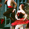 WARREN DILLAWAY / Star Beacon<br /> TIM KOLMAN and Meghann Stell prepare for the Spanish Dance in the Ashtabula Arts Center's rendition of the Nutcracker.