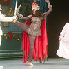 WARREN DILLAWAY / Star Beacon<br /> TESSA DEUTSCH (center), the Mouse Queen, and Dan VanAllen, the Nutcracker, dual under the watchful eye of Miranda DiFranco, Clara, during the Nutcracker at the Ashtabula Arts Center.