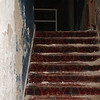 WARREN DILLAWAY / Star Beacon<br /> THE ENTRY to the Sheas Theater balcony has deteriorated after decades of inactivity.