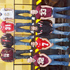 WARREN DILLAWAY / Star Beacon<br /> THE STAR Beacon First-Team Defense includes (from left front row) Nick Holt of Pymatuning Valley, Travis Blake of Geneva, Joe Baitt of Jefferson and Nick Such of Pymatuning Valley. (From left second row) Ryan Wilkerson of Pymatuning Valley, Justin Butler of Jefferson, Shane Herter of Geneva and Sam Distelrath of Conneaut.