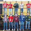 WARREN DILLAWAY / Star Beacon<br /> MEMBERS OF the Star Beacon All Ashtabula County Football Second Team Defense include (from left front row) Jacob Cardona of Edgewood, Brent Bell of Geneva, Josh Young of Pymatuning Valley, Zach Oscar of Grand Valley and Kyle Downes of Lakeside. (From left top row) Jarrod Harrah, of Geneva, Jason Huelskamp of Geneva, Jared Patton, of Lakeside, Cole Walker of Conneaut and Hunter Bean of Jefferson.