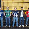 WARREN DILLAWAY / Star Beacon<br /> MEMBERS OF the Star Beacon Second Team Defense (from left) include Ray Marsch of Grand Valley, Tyler Brock of Lakeside, Jason Hart of Grand Valley, Alex Gerdes of Conneaut and Jeremiah Knight of Geneva.