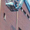 WARREN DILLAWAY / Star Beacon<br /> BRICK REFURBISHING work continues at the Ashtabula County Courthouse in Jefferson.