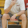 WARREN DILLAWAY / Star Beacon<br /> DAVE FOWLER, Edgewood volleyball coach, watches the action during a home match with Pymatuning Valley on Monday evening.