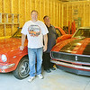 WARREN DILLAWAY / Star Beacon<br /> RAY BROCKETT (left), and his uncle Roger Brockett, both of Pierpont Township, displays to of his classic cars. The Brockett family went to Pierce, Neb., this past weekend for an auction of almost 500 cars.
