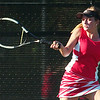 WARREN DILLAWAY / Star Beacon<br /> ALYX LYNHAM of Geneva returns a shot during a first singles match Tuesday at Lakeside.