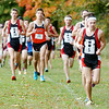 WARREN DILLAWAY / Star Beacon<br /> NICK ELSWICK of Chardon takes an early lead Friday morning on his way to the Premier Athletic Conference Cross Country championship at the Perry Outdoor YMCA.