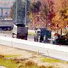 WARREN DILLAWAY / Star Beacon<br /> CONSTRUCTION CREWS work on the westbound of Interstate 90 near the Route 7 interchange in Conneaut.