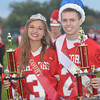 WARREN DILLAWAY / Star Beacon<br /> JULIANA KOSIK and Jacob Cardona were crowned king and Edgewood homecoming queen and king on Friday evening prior to the football  game with Gilmour Academy.
