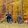 WARREN DILLAWAY / Star Beacon<br /> HUNDREDS OF people, and dogs, participated in the Ashtabula County Animal Protective League Boo Wow Walk at Maple Ridge Golf Course in Saybrook Township Saturday afternoon.