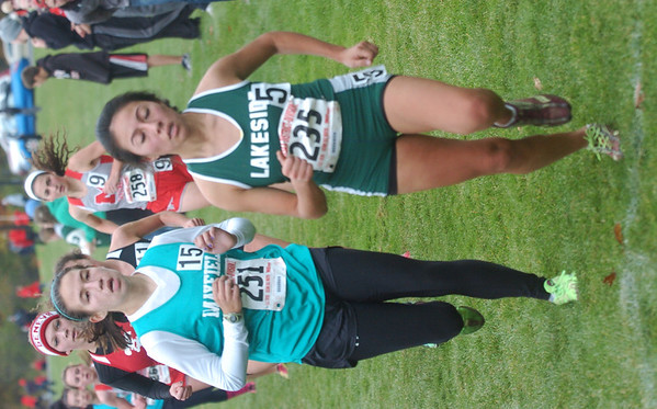 WARREN DILLAWAY / Star Beacon<br /> KAREN BARRIENTOS of Lakeside finished 10th at the Division I District Cross Country Meet at Lakeland Community college Saturday earning a spot at the regional meet next week at Boardman.
