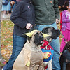 WARREN DILLAWAY / Star Beacon<br /> JESSICA DALIN and Chuck Emery, both of Plymouth Township, pose with their dogs at the Ashtabula County Animal Protective League Boo Wow Walk at Maple Ridge Golf Course in Saybrook Township.