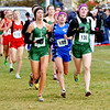 WARREN DILLAWAY / Star Beacon<br /> JESSICA FINLEY (199) of Grand Valley started near the front and stayed there on Saturday qualifying for the Division II Ohio Athletic Association State Cross Country Meet in Columbus next week during the Boardman regional.