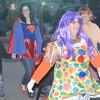 WARREN DILLAWAY / Star Beacon<br /> SANDY MILLS of Kids Only marches in the Ghoulfest Parade on Saturday night in downtown Geneva.