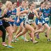 WARREN DILLAWAY / Star Beacon<br /> COLLEEN O'CONNOR (586) of Jefferson breaks from the starting line Saturday during the Division II regional cross country meet at Boardman.