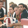 WARREN DILLAWAY / Star Beacon<br /> DON PALM, Jefferson volleyball coach, watches the action Tuesday during a home match with Girard.