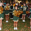 WARREN DILLAWAY / Star Beacon<br /> LAKESIDE CHEERLEADERS get the fans pumped up Thursday night during a homecoming rally in downtown Ashtabula.
