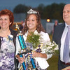 WARREN DILLAWAY / Star Beacon<br /> ALYSSA ANDES was crowned Conneaut Homecoming Queen Friday night and was escorted by her parents Pam and DaleAndes Friday night prior to the Gilmour Academy football game.