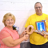 WARREN DILLAWAY / Star Beacon<br /> WYNN WESSELL was named Lenox Township Citizen of the Year on Saturday during the 89th Lenox Homecoming. The 2012 recipient, Barbara Hamilton, presented the award.