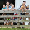 WARREN DILLAWAY / Star Beacon<br /> VISITORS TO The Great Geauga County Fair watch a donkey jumping competiton on Saturday.